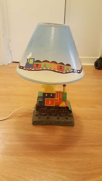 Used lamp shades in ottawa yellow red and green train table lamp base and blue lamp shade ottawa mozeypictures Images
