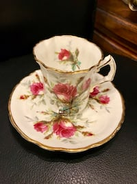 Hammersley Grandmother's rose series bone china tea cup and saucer