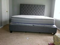 King Size  Gray Upholstered Bed $399 or $40 Dn! Atlanta