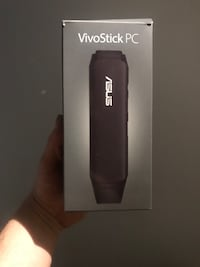 Svart asus vivo stick pc-boks