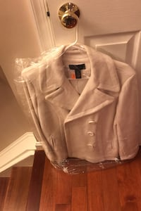 Macy off white Peacoat size Large