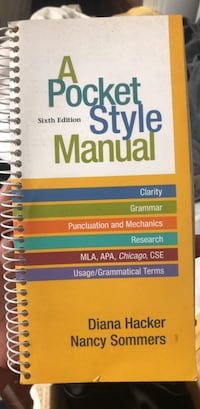 A pocket style manual 6th Edition Hyattsville, 20783