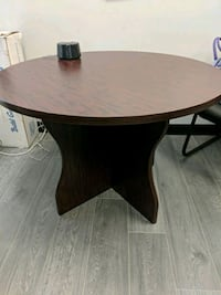 round brown wooden table with two chairs Vaughan, L4K 2H6