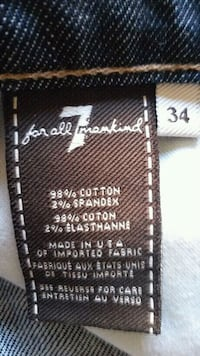 7 34 size for all mankind product tag