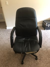 black leather office rolling armchair Falls Church, 22044