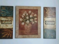 two brown wooden framed paintings Vaughan