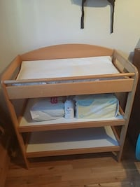 brown wooden diaper changing table Montréal, H1K 2X9