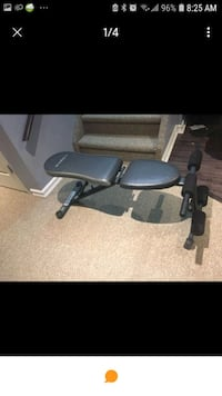 black and gray recumbent stationary bike Milton, L9T 6Y8