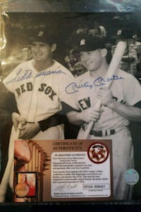 Autographed 8 by 10 photo of Ted Williams and Mick Jacksonville, 32207
