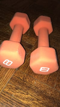 pair of red fixed weight dumbbells Toronto, M4S 1G4
