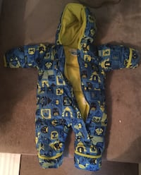 Columbia infant winter snowsuit down filled 6-12 months