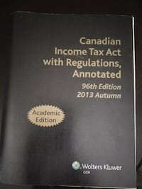Canadian Income Tax Act with Regulations, Annotate Toronto, M1B 1H9