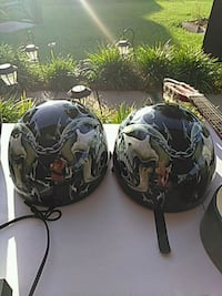 two black-and-white floral helmets Grand Prairie, 75052
