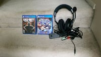 2 ps4 games and turtle beach head set
