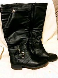 Black Leather Knre High Boots Bakersfield, 93301
