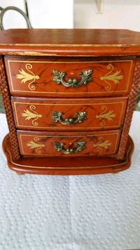 Vintage Handcrafted Florentine Musical Jewelry Box