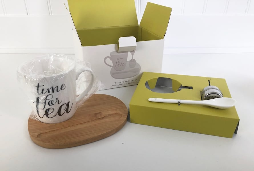 Tea Cup/Mug Set with Tray and Infuser from Indigo 87852416-a770-41f0-b63a-5f219a4b718b