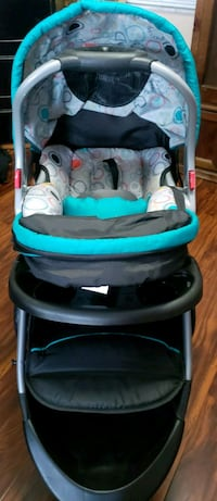 baby's black and blue stroller Valrico