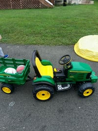 green and yellow John Deere ride-on mower Gainesville