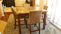 Square Granite High Table with 4 Chairs Fairfax, 22033