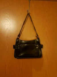 black leather 2-way handbag Jessup, 20794