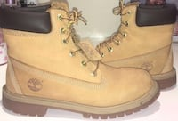 pair of brown Timberland work boots Manchester, M28