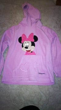 pull à capuche Minnie Mouse rose 6137 km