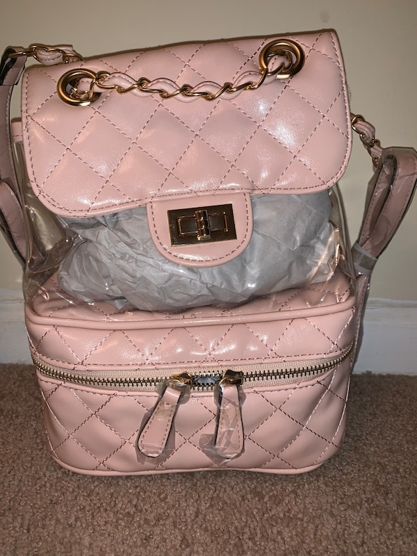 6a11c738f0fe Used Quilted Clear Backpack (pink) for sale in Stone Mountain - letgo