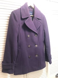 Purple Lands' End peacoat