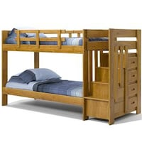 Woodcrest twin over twin bunk bed with stairs Baltimore, 21229
