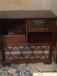 brown wooden storage cabinet