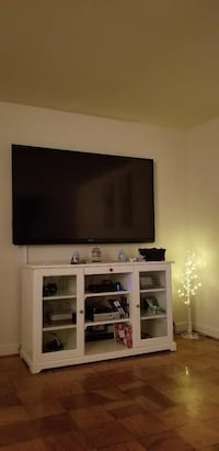 White  TV stand. From Ikea   Manassas, 20110