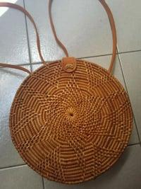 round brown wicker basket with lid Singapore, 549244