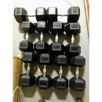Rubber Hex Dumbbells 55-75 New in Boxes Price Firm Bellmawr