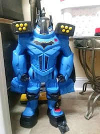 Batman robot blue and black robot toy