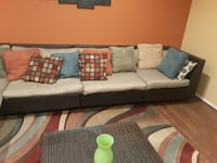 7 pieces sectional + table BOWIE