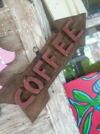 Wooden coffee sign Breaux Bridge, 70517