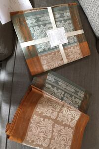 Two New William Sonoma Autumn Wheat Table Runners 18 x 108