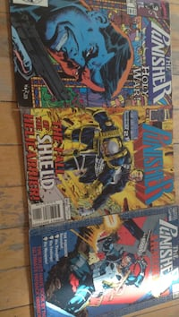 several Marvel Comics The Punisher comic books
