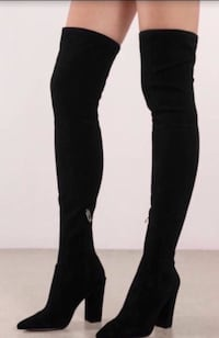 women's black thigh high boots Bellevue