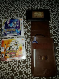 two Nintendo 3DS xl game cartridges plus 3ds Brampton