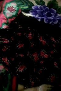 black and red floral textile Yuma, 85364