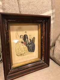 two brown wooden framed painting of woman Hyde Park, 05655