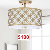 AJ- BRAND NEW- Ogden 3-Light Semi Flush Mount Mississauga