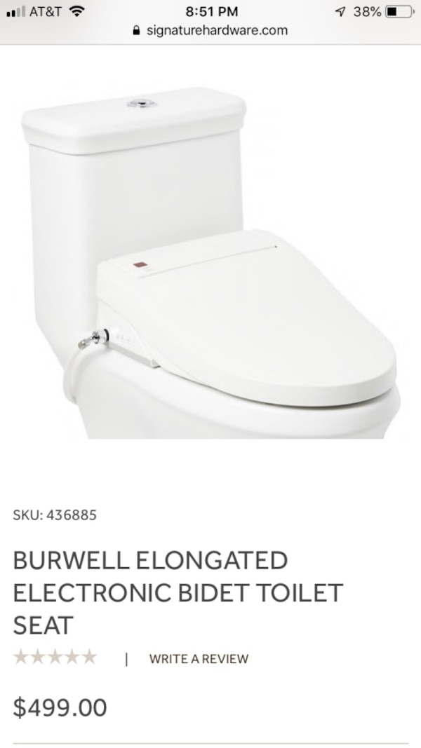 Superb Burwell Elongated Bidet Toilet Seat Pabps2019 Chair Design Images Pabps2019Com