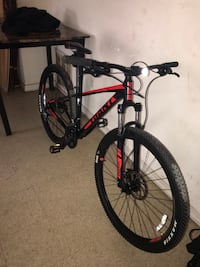 red and black hardtail bike 48 km