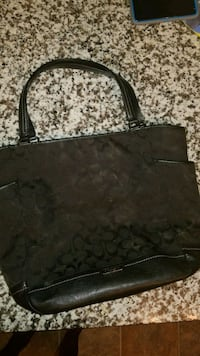 black monogrammed Coach leather tote bag Edmonton, T6W 1A8
