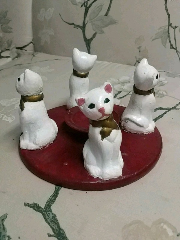 Hand Painted Cat Candle Holder