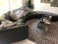 Black leather curved sofa Mill Valley, 94941