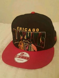 black and red Chicago Bulls fitted cap Pickering, L1W 2M2